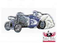 Hot Rod Pin - Oldtimer Dragster, lila