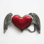 Gürtelschnalle - Heart Angel Wings