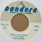 Single - Dusty Brown - Well You Know / Please Don?t Go