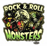 Aufkleber - Vince Ray - Rock Roll Monsters