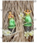 Wackelfigur klein - Hula Hawaii Tiki Boy And Girl Set Mini