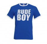 Ringer-Shirt - Busters - RUDE BOY, baby blue