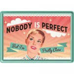 Metal Postcard - Nobody Is Perfect