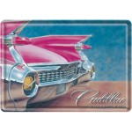 Blechpostkarte - Pink Caddillac