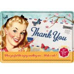 Blechpostkarte - Thank You Girl