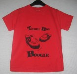 Kinder Shirt - Teddy Boy Boogie, Rot