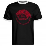 Ringer-Shirt - Rollin' Rock Records, Schwarz