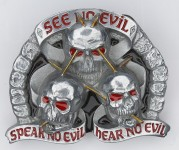 Gürtelschnalle - Speak No Evil, Feel No Evil, Hear No Evil