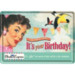 Blechpostkarte - It's Your Birthday!