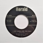 Single - Blind Billy Tate ? Love Is A Crazy Thing/ I Got News For You Baby