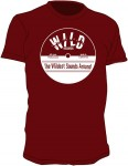 T-shirt - Wild Records, Bordeaux-Rot