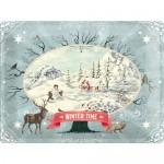 Tine-Plate Sign 30x40 cm - Winter Time Scenery