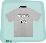 Bowlingshirt - High 5, Grau-Schwarz