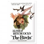 Tin-Plate Sign 20x30 cm - Movie Art - Alfred Hitchcock's The Birds