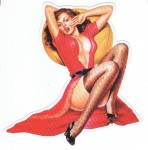 Pin Up Girl Aufkleber - Retro Pin Up 6