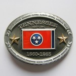 Gürtelschnalle - Confederate Tennessee State Flag - With Gold Stars