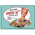 Blechpostkarte - Kelloggs' Quick K Menu