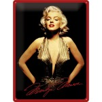 Tine-Plate Sign 30x40 cm - Marilyn Monroe - Gold