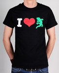 T-Shirt - I Love Gecko Rex, black