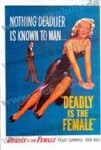 Poster DIN A3 - Deadly Is The Female
