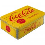 Vorratsdose Flach Coca-Cola - Logo Yellow