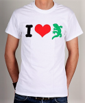 T-Shirt - I Love Gecko Rex, white