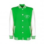 Kids - College-Jacket - Walldorf Weekender Skull - Green-White