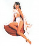 Pin Up Girl Aufkleber - Retro Pin Up 24