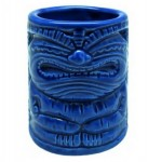 Tiki Shot Mug - Happy, Blau