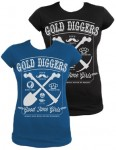 Girl-Shirt Steady - Gold Diggers, Blau