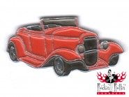 Hot Rod Pin - Oldtimer Rodder, rot