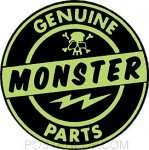 Robert Kruse Aufkleber - Genuine Monster Parts