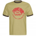 Ringer-Shirt - Rollin' Rock Records, Beige