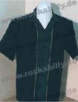 Swingmaster Bowlingshirt - Black-Hunter Green