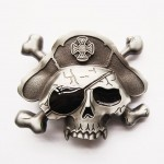 Gürtelschnalle - Pirate Skull