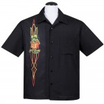 Steady Shirt - Rat Fink Pinstripe Panel Button Up