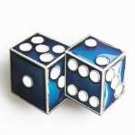 Gürtelschnalle - Blue Dice