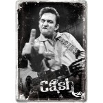 Blechpostkarte - Johnny Cash - Finger