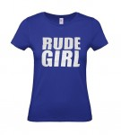 Girl-Shirt - Busters - RUDE GIRL, blau
