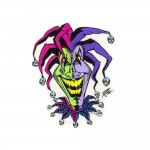 Pizz Aufkleber - Joker Clown