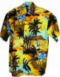 Hawaii-Shirt For Kids - Sunset Yellow
