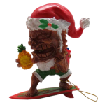 Holiday Ornament - Surfing Tiki Clause