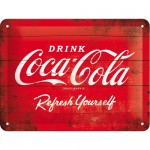 Blechschild 15x20 cm - Coca Cola Red Refresh Yourself