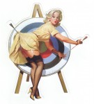 Pin Up Girl Aufkleber - Retro Pin Up 7