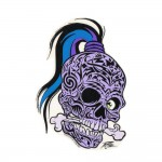 Pizz Aufkleber - Tattooed Skull