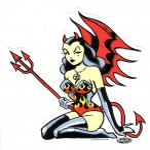 Aufkleber - Vince Ray - Devilette
