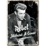Blechpostkarte - James Dean - Smoking