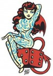 Sticker - Vince Ray - Lucky Tattoo