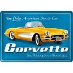 Blechpostkarte - Corvette Yellow