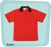 Bowlingshirt - Classic Bowler rot-schwarz